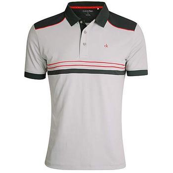 Calvin Klein Ace Tech Golf Polo - Silver  (D4)