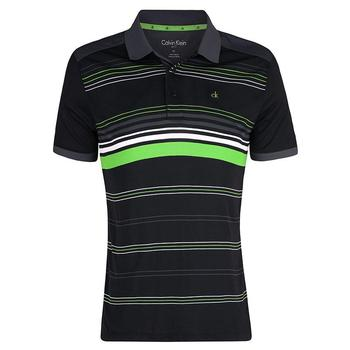 Calvin Klein Multi Stripe Tech Polo - Black  (D4)