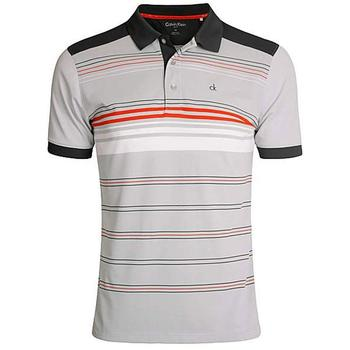 Calvin Klein Multi Stripe Tech Polo - Silver  (D4)