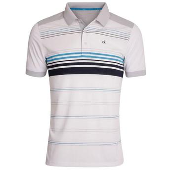 Calvin Klein Multi Stripe Tech Polo - White  (D4)