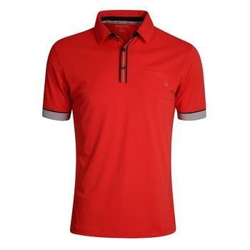 Calvin Klein Tech Pocket Golf Polo Shirt - Dynamic Red - Size: X Large