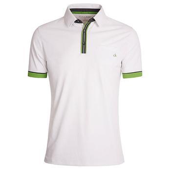 Calvin Klein Tech Pocket Golf Polo Shirt - White - Size: Small (D1)