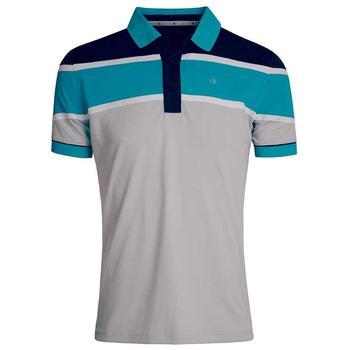 Calvin Klein Tech Colour Block Polo Shirt - Silver/Cyber