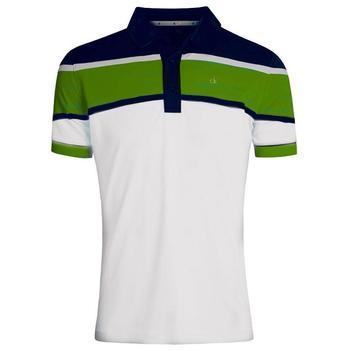 Calvin Klein Tech Colour Block Polo Shirt - Silver/Power (D1)