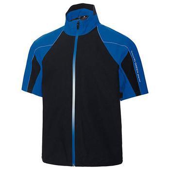 Galvin Green Argo Short Sleeve C-Knit Jacket – Kings Blue/Black/White Large