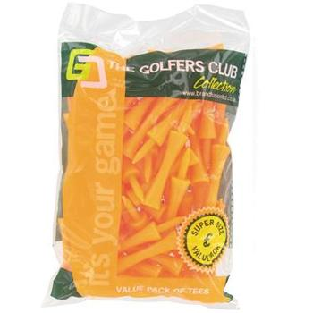 Golfers Club Neon Orange Step Height Tees (Value Pack)