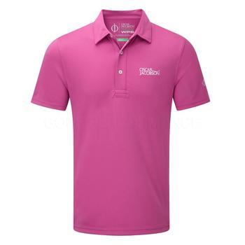 Oscar Jacobson Collin Tour Polo Shirt - Pink _ Size: Small