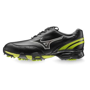 Mizuno Stability Style Golf Shoes Black/Lime, Size 7.5