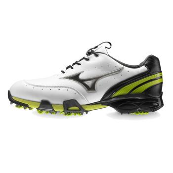 Mizuno Stability Style Golf Shoes White/Black/Lime, Size 7