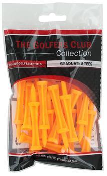 Golfers Club Neon Orange Step Height Tees (25 Tee Pack)