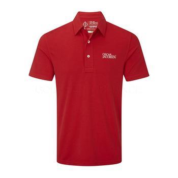 Oscar Jacobson Collin Tour Polo Shirt - Red _ Size: Large