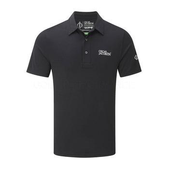 Oscar Jacobson Collin Tour Polo Shirt - Black _ Size: Medium
