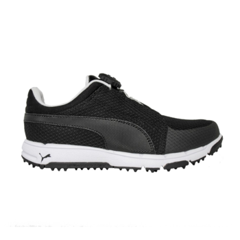 Puma Grip Sport DISC Junior Golf Shoes  Black  White UK 1