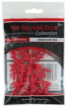 Golfers Club Red Step Height Tees (25 Tee Pack)