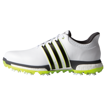 Adidas Tour 360 Boost  White Core  Black  Solar Yellow Size 8