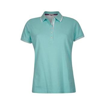 Green Lamb Patricia Club Golf  Shirt - Aqua/White (A7)