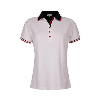 Green Lamb Patricia Club Golf  Shirt - White/Navy (A7)