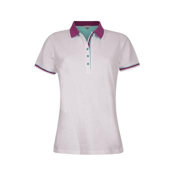 Green Lamb Patricia Club Golf  Shirt - White/Violet (A7)