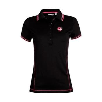 Green Lamb 24/7 Deel Bow & Crown Golf  Shirt - Black (A4)