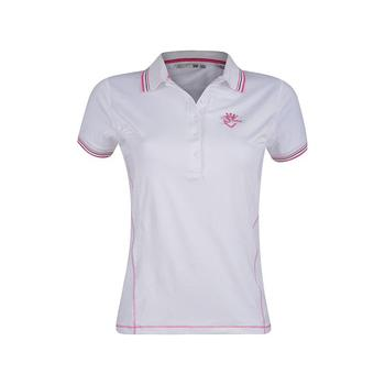 Green Lamb 24/7 Deel Bow & Crown Golf  Shirt - White (A4)