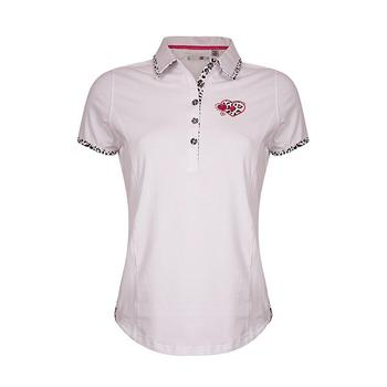 Green Lamb 24/7 Derry Print Trimmed Golf  Shirt - White (A4)