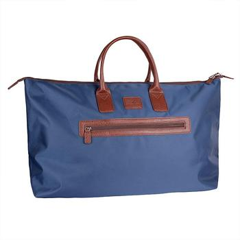Green Lamb Audrey Weekend Bag - Navy/Tan