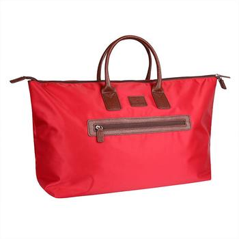 Green Lamb Audrey Weekend Bag - Red/Tan