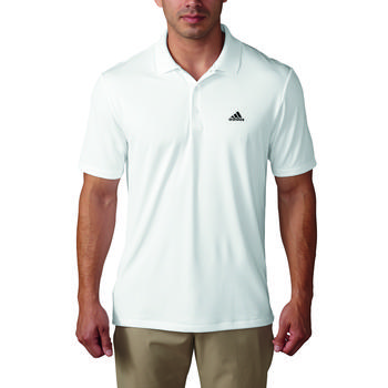 Adidas Mens Performance Golf Polo Shirt  White (A18)