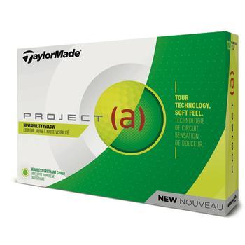 TaylorMade Project (a) Yellow Golf Balls 1 Dozen