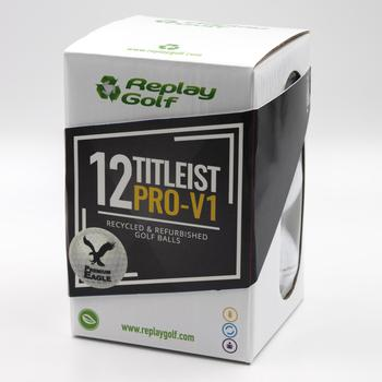 Replay Golf Premium Eagle Lake Balls  Titleist Pro V1  1 Dozen