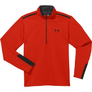 Under Armour Cold Gear Infrared Thermo ½ Zip Golf Sweater - Fuego/Black - Large