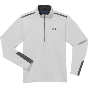 Under Armour Cold Gear Infrared Thermo ½ Zip Golf Sweater - White/Graphite - Large