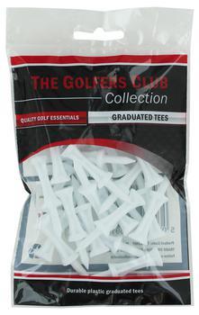 Golfers Club White Step Height Tee (25 Tee Pack)
