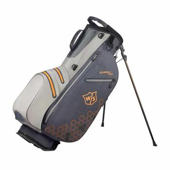 Wilson Dry Tech II Stand Bag - Black/Grey/Orange