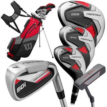 Pro Staff SGI Golf Package Set – Longer Mens Driver. 3 Wood. 5H. 6-SW. Putter. Bag