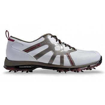 Callaway X Cage Pro Golf Shoes - White/Grey/Red - Size: 8