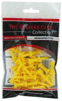 Golfers Club Yellow Step Height Tee (25 Tee Pack)