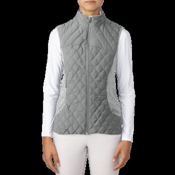 Image of Adidas Ladies Padded Vest - Grey