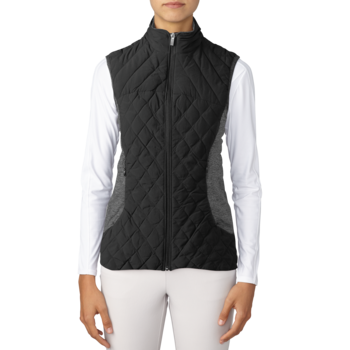 Image of Adidas Ladies Padded Vest - Black