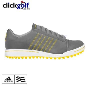 Adidas Junior Adicross Golf Shoes Iron/White/Sun