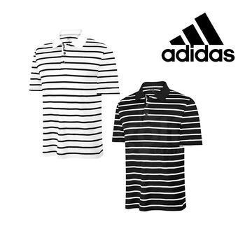 Stockists of Adidas Climacool textured Stripe Golf Polo Black Small