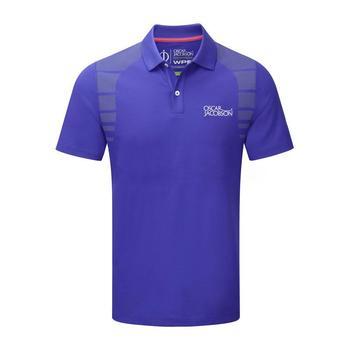 Oscar Jacobson Adrian Tour Polo Shirt - Blue _ Size: Medium