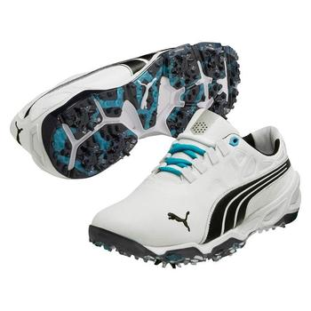 Puma Golf BioFusion Golf Shoes - White/Black - Size: 7