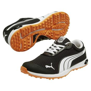 Puma Golf BioFusion Mesh Golf Shoes - Black/White - Size: 7