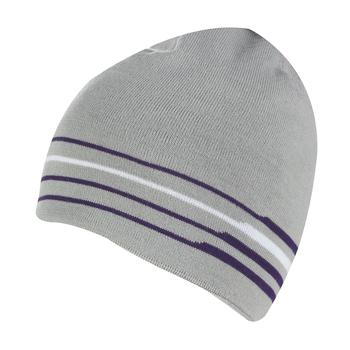 Galvin Green Brant Knitted Hat - Steel Grey / Purple / White