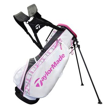 Taylormade Carry Lite Stand Bag: White/Pink/Grey + FREE CAP!