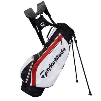 Taylormade Carry Lite Stand Bag: Black/White/Red + FREE CAP!