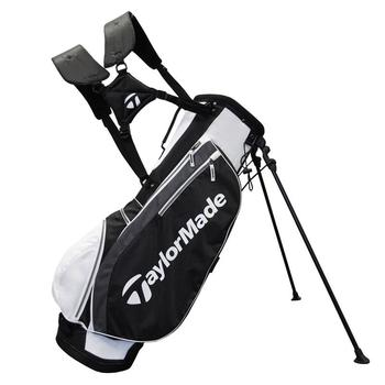Taylormade Carry Lite Stand Bag: White/Black/Charcoal + FREE CAP!
