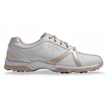 Callaway Cirrus Ladies Golf Shoes - White/Bone - Size: 4