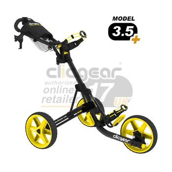 ClicGear Cart Golf Trolley 3.5 Charcoal/Yellow